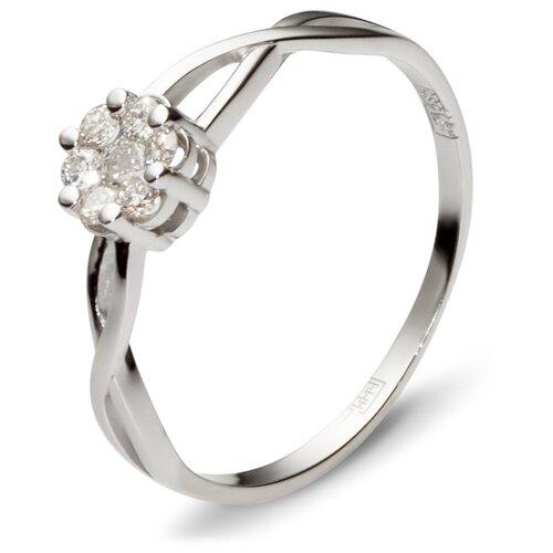 Фото - Эстет Кольцо с 7 бриллиантами из белого золота 01К626320, размер 18 yvel кольцо с 7 бриллиантами из белого золота 2061000231632 размер 18