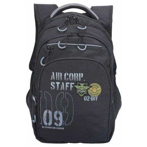 Grizzly Рюкзак RB-050-2, черный/серый рюкзак grizzly grizzly mp002xm23sic