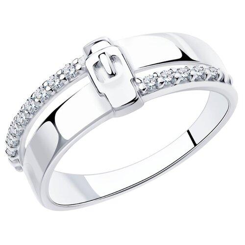 Diamant Кольцо из серебра с фианитами 94-110-00801-1, размер 17.5
