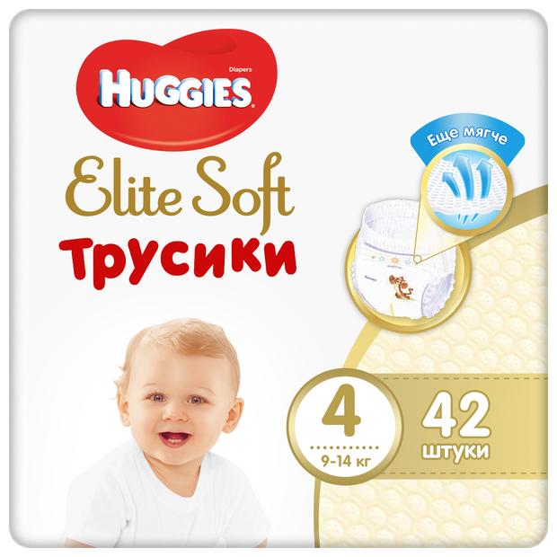 Huggies Elite Soft трусики 4 (9-14 кг) 42 шт. — купить по выгодной цене на Яндекс.Маркете