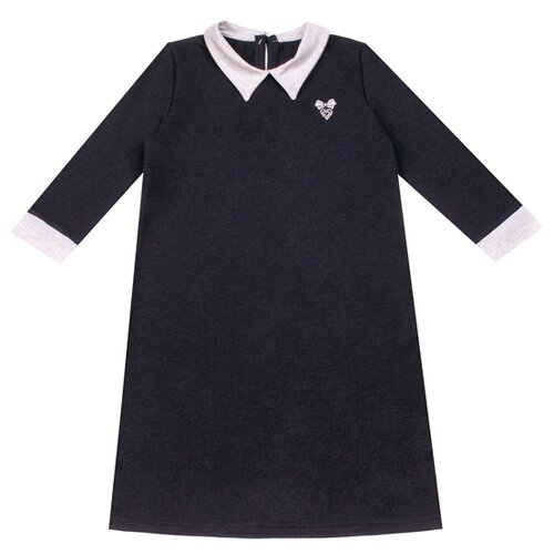 Купить Платье Апрель Школьная пора размер 116-60, темно-синий99/белый, Платья и сарафаны