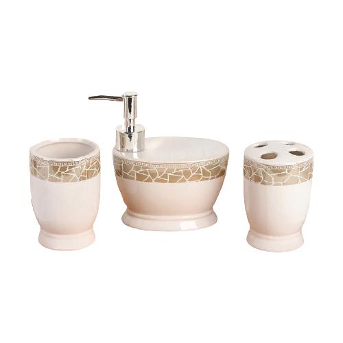 Фото - Набор для ванной Доляна Мрамор 1113365, бежевый набор для ванной доляна грация 2698471 персиковый