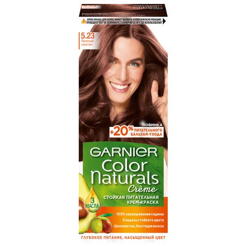 GARNIER Color Naturals стойкая питательная крем-краска для волос, 5.23, Пряный каштан/Розовое дерево недорого