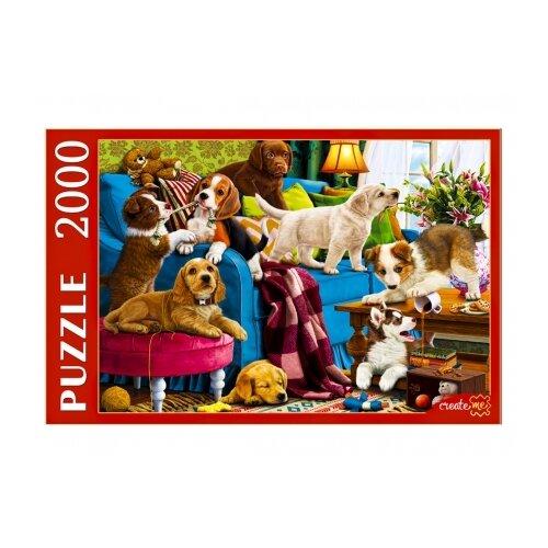 Фото - Пазл Рыжий кот Игривые щенки (Ф2000-3699), 2000 дет. пазл рыжий кот забавные щенки пу24 0611
