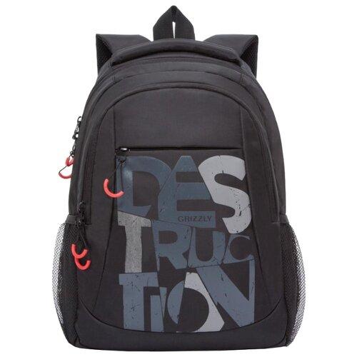 Рюкзак Grizzly RU-038-1/3 14 (черный) рюкзак grizzly ru 802 3 2 16 черный черный