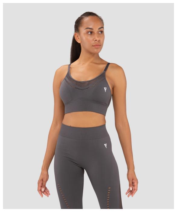 Купить Женский бра-топ Fifty Essential Knit Dark Grey Fa-wb-0202-dgr, темно-серый размер S по низкой цене с доставкой из Яндекс.Маркета