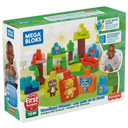 Конструктор Mega Bloks First Builders GMB63 Эко Лесные Друзья конструктор строй и учись mega bloks dxh33
