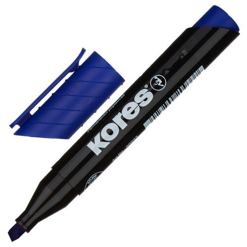 Фото - Маркер перманентный KORES, синий, 3-5 мм скошенный наконечник 20953 3 шт. маркер для досок kores красный 3 5 мм скошенный наконечник 20857 3 штуки