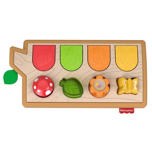 Развивающая игрушка Fisher-Price Прятки со зверятами (GJW24), коричневый