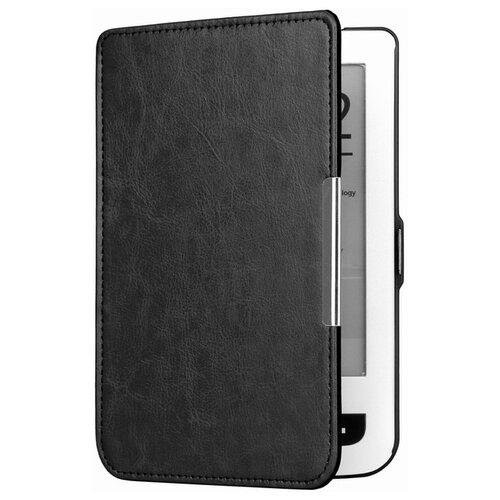 Чехол-обложка футляр MyPads для Pocketbook 622/ 623 из качественной эко-кожи тонкий с магнитной застежкой черный