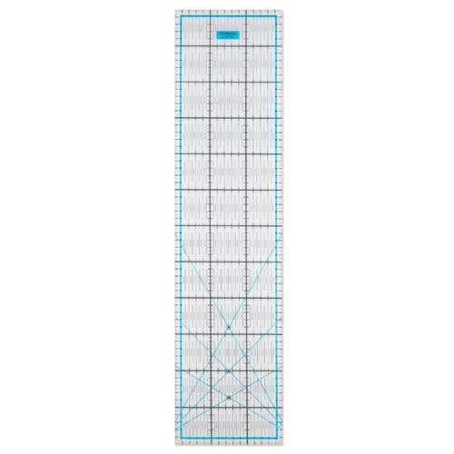 Купить Gamma Линейка для пэчворка QRL-05 15 x 60 см прозрачная, Инструменты и аксессуары