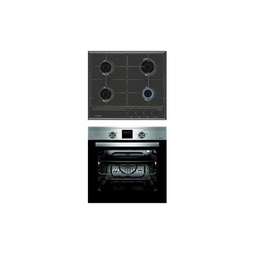 Комплект встраиваемой техники Luxdorf H60V40B450 + B6EM56050 черный/серый