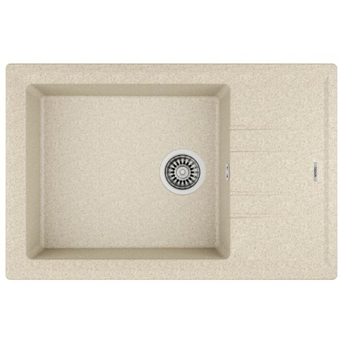 Врезная кухонная мойка 78 см TEKA Stone 60 S-TG 1B 1D песочный бежевый кухонная мойка teka classic 1b mctxt