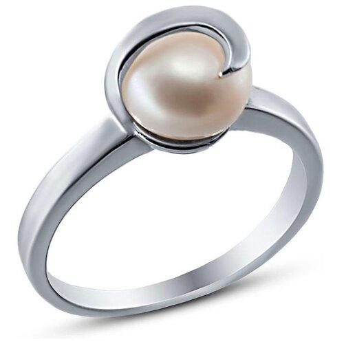 цена на Silver WINGS Кольцо с жемчугом из серебра 21set9989a-113, размер 18