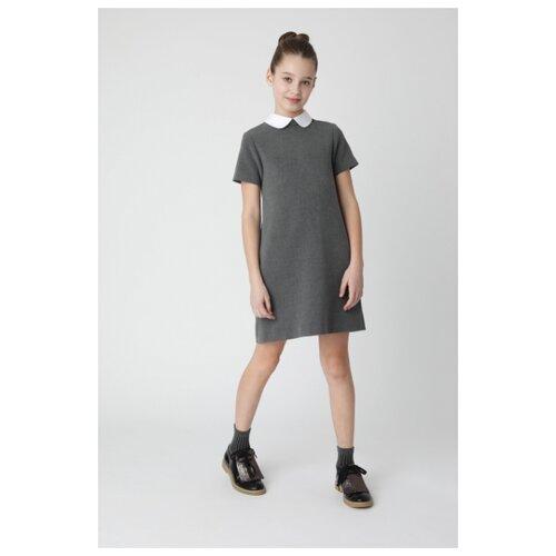 Купить Платье Gulliver размер 164, серый, Платья и сарафаны