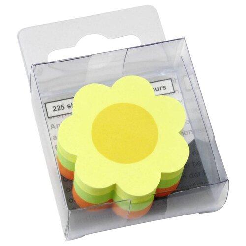 Global Notes блок с липким слоем Цветок 3 цвета 50х50 мм, 225 листов (584239) желтый/зеленый/оранжевый