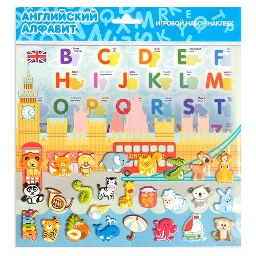 Купить Плакат Липляндия Плакат с наклейками Алфавит Английский разноцветный, Обучающие плакаты