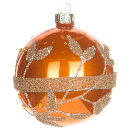 Набор шаров KARLSBACH 06783, оранжевый с золотым узором