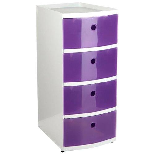 Комод TATAY напольный для хранения, с 4-мя выдвижными ящиками , размер: 34х25 см , цвет: фиолетовыйКомоды<br>