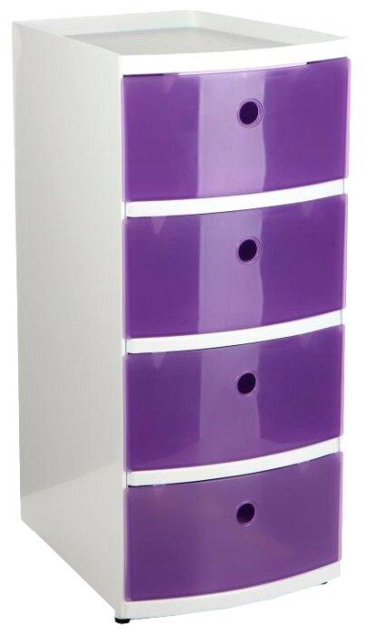 Комод TATAY напольный для хранения, с 4-мя выдвижными ящиками , размер: 34х25 см , цвет: фиолетовый