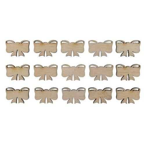 Купить Mr. Carving Мини-набор заготовок для декорирования Бантики ВД-367 (15 шт.) бежевый, Декоративные элементы и материалы