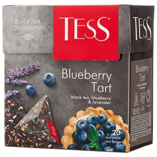 Чай черный TESS Blueberry Tart в пирамидках, 20 шт. svay black thyme черный чай в пирамидках 20 шт