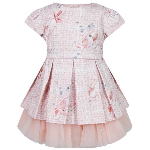 Платье Lapin House 202E3183 размер 104, розовый платье lapin house размер 104 разноцветный желтый