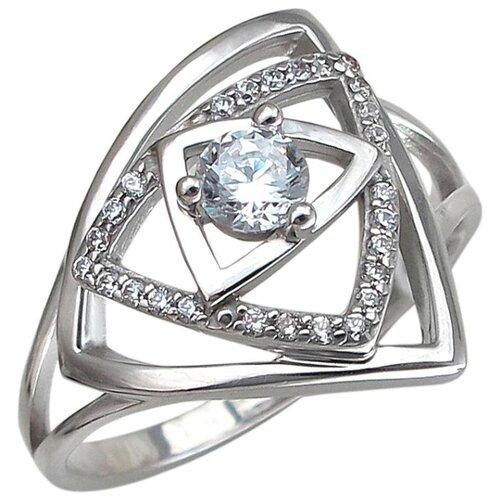 Эстет Кольцо с 27 фианитами из серебра 01К1510402, размер 16.5 фото