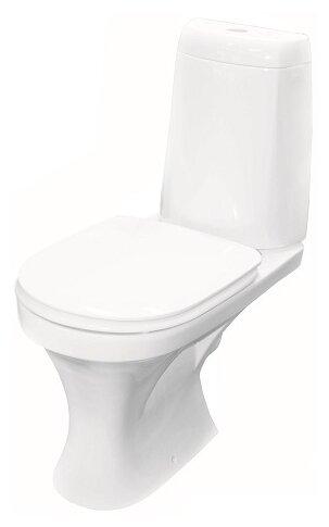 Унитаз с бачком напольный Керамин Санти (с мягким сиденьем) с горизонтальным выпуском
