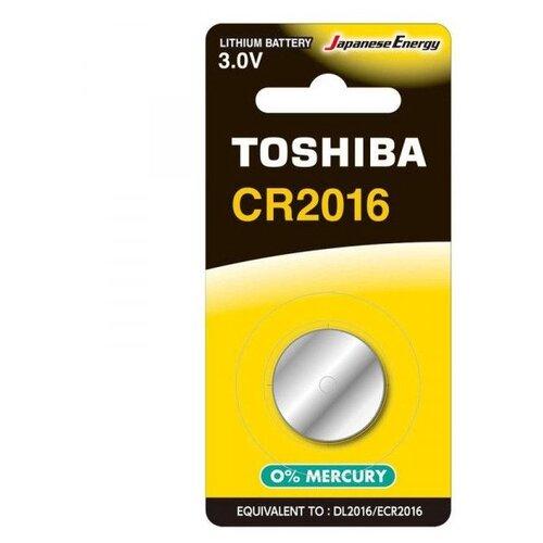 Фото - Батарейка литиевая Toshiba CR2016/1BL 1 штука батарейка cr2016 литиевая varta cr2016 3v 1 шт