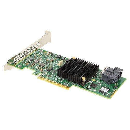 SAS/SATA RAID контроллер LSI Logic MegaRAID SAS 9341-8i SGL зеленый контроллер lsi rms3vc160 946902