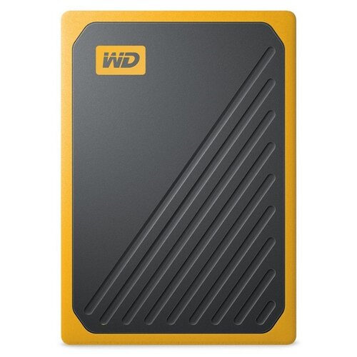 Фото - Внешний SSD Western Digital My Passport Go 1 ТБ amber western digital wdblhr0020bbl eeue my passport 2 5 синий