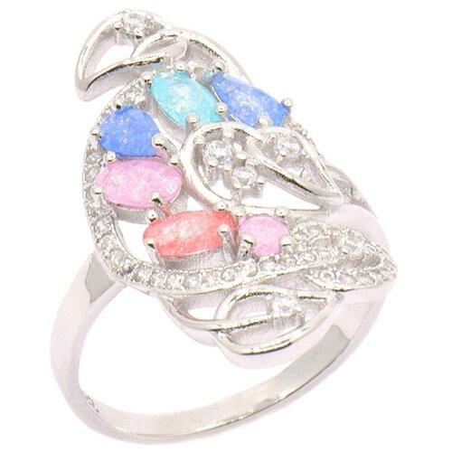 цена на Silver WINGS Кольцо с кварцами из серебра 21set8363-113, размер 17
