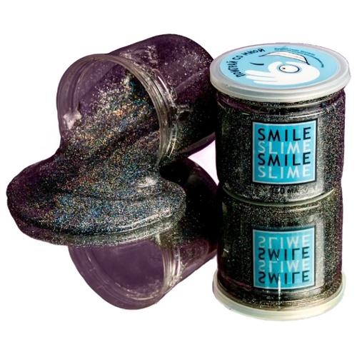 Жвачка для рук Smile Slime Cosmos Металлик черный, Игрушки-антистресс  - купить со скидкой