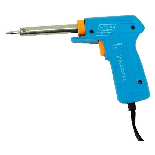 Импульсный паяльник PROconnect 12-0161-4, 70 Вт голубой паяльник электрический proconnect 12 0175 4 40 вт 220 в деревянная ручка