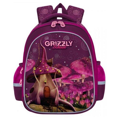 Купить Рюкзак школьный Grizzly RAz-086-7 /1 фиолетовый, Рюкзаки, ранцы