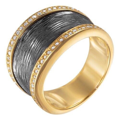 Фото - ELEMENT47 Широкое ювелирное кольцо из серебра 925 пробы с кубическим цирконием ARS101460W_KO_001_BJ, размер 18 element47 широкое ювелирное кольцо из серебра 925 пробы с кубическим цирконием 05s2azr104804curi 001 wg размер 18