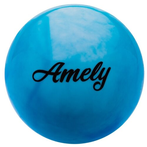 Мяч для художественной гимнастики Amely AGB-101 19 см синий/белый