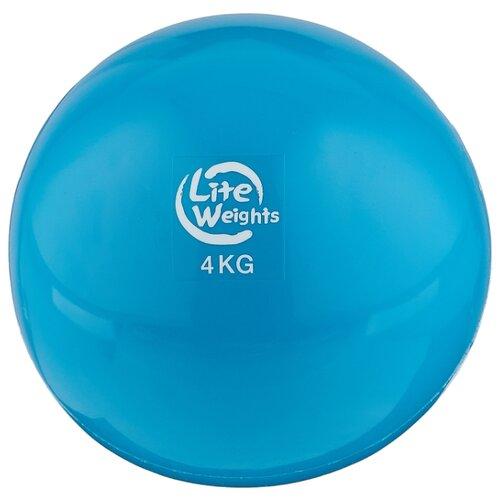 Медбол Lite Weights 1704LW, 4 кг голубой бодибар lite weights 33 х 1200 мм 6 кг