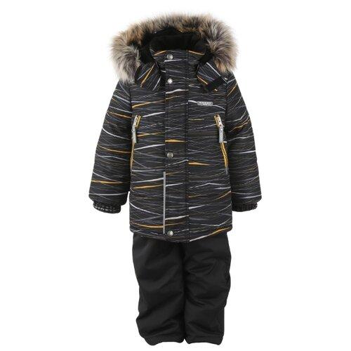 Фото - Комплект с полукомбинезоном KERRY City K20436 (06770, 04200, 02290) размер 116, серый куртка kerry wolfie k19439 a размер 116 9890 серый