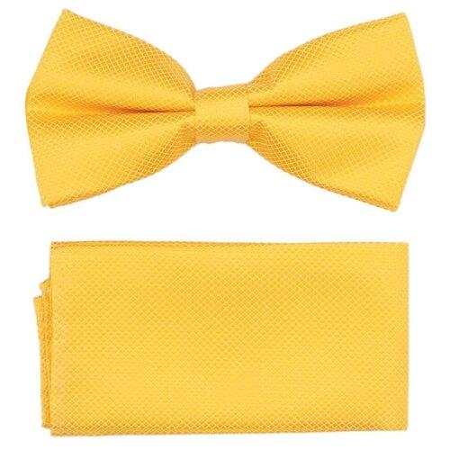 Комплект из 2 предметов OTOKODESIGN галстук-бабочка и платок 537/560 желтый