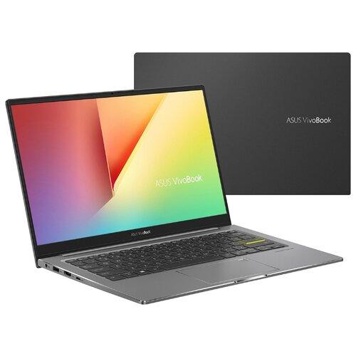Купить Ноутбук ASUS VivoBook S13 S333JQ-EG008T (Intel Core i5-1035G1 1000MHz/13.3 /1920x1080/8GB/512GB SSD/DVD нет/NVIDIA GeForce MX350 2GB/Wi-Fi/Bluetooth/Windows 10 Home) 90NB0QS4-M00240 черный/серый