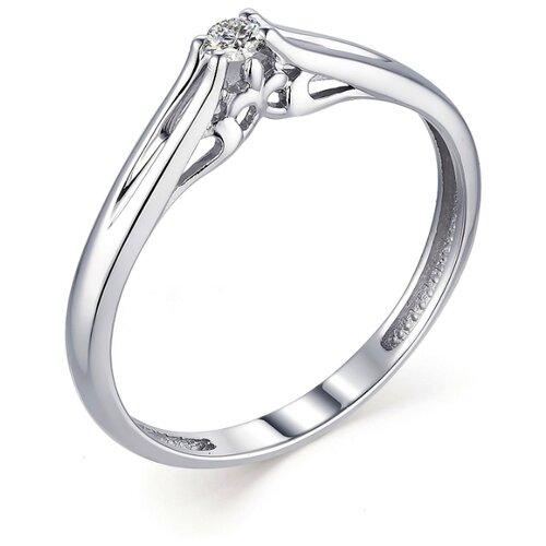 АЛЬКОР Кольцо с 1 бриллиантом из белого золота 13344-200, размер 17 алькор кольцо с 1 бриллиантом из белого золота 13299 200 размер 17