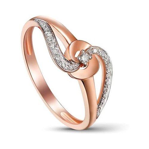 ЛУКАС Кольцо с 9 бриллиантами из красного золота R01-D-1983116AQXD-R1, размер 16.5 кольцо из золота юшnone r1
