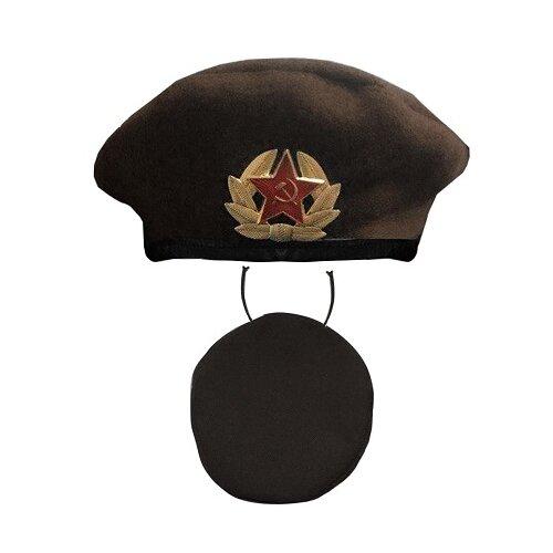 Купить Головной убор Карнавалия Берет Десантник (26-0019), черный, Карнавальные костюмы