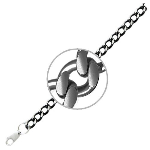 Адамант Браслет плетения Панцирное из серебра 04Б050714ПВЧ, 19 см, 9.52 г браслет яшма адамант
