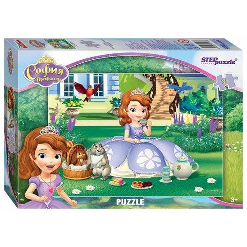 Пазл Step puzzle Disney Принцесса София (91133), 35 дет. детский музыкальный инструмент disney микрофон софия прекрасная принцесса 2698575