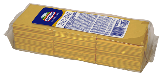 Сыр в ломтиках Бистро Чеддар Hochland 48%, 1,033кг