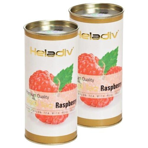 Чай черный Heladiv Premium Quality Black Tea Raspberry, 100 г, 2 уп. чай черный heladiv pekoe classic black tea 100 г 2 уп