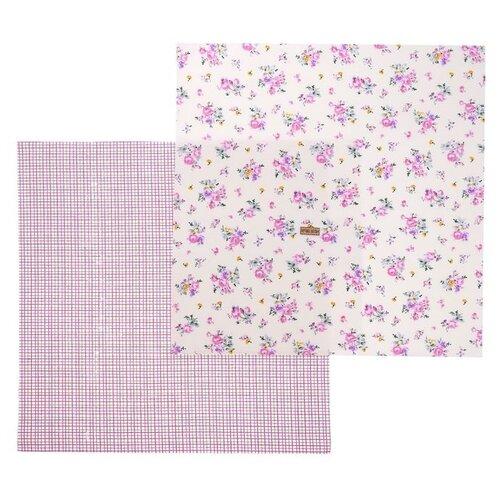 Ткань Арт Узор для пэчворка Элегия 121 г/м, 50 x 50 см розовый набор для творчества арт узор ткань для пэчворка трикотаж коралловый 50 50см